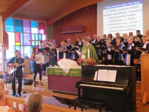 Simojoki and Suomi Conference Choir at Emmaus