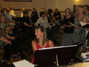 Terhi leading the choir -Scandinavian Centre